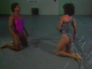 Vintage Strong Women Competitive Wrestling