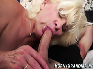 Sucking Grandma Facial