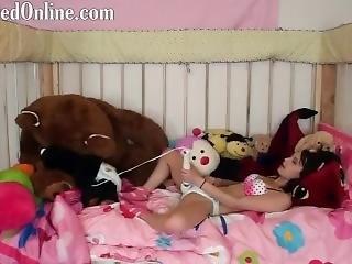Mia Masturbating In Her Pampers Diaper