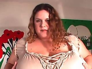 Biker girl showws off her desirable big tits