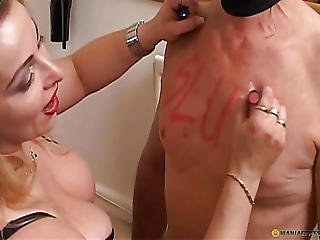 Beautiful, Blonde, Fetish, Lick, Lipstick, Mature