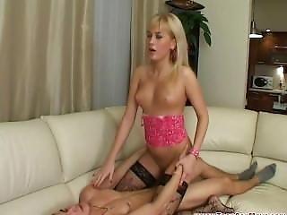 Teen Blonde An Her Friend 4some