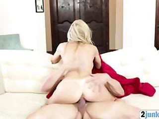 Big Boobs Blonde Cowgirl Ride Bull Thick Cock Couch Fucking