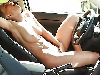 Milf Orgasm In The Car