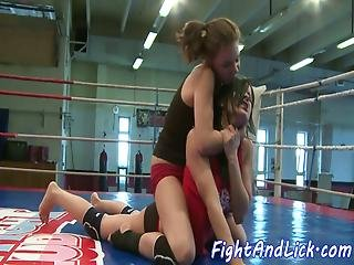 Wrestling Babes Pussy Toying And Ass Fingering