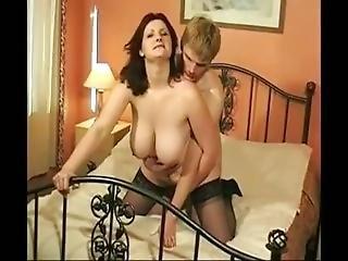Swedish Homemade Big Tits Milf Fuck Young Stud