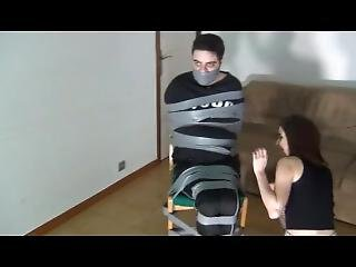 Femdom Duct Taped