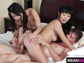 Penis For Asian Milf And Her Nubile Stepdaughter