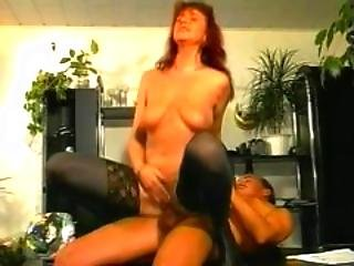 Whore Gets Fucked On The Desk