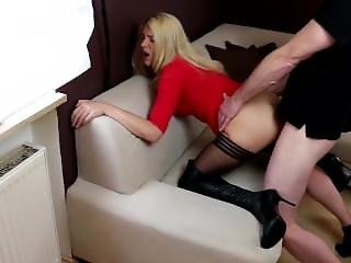 Amateur, Black, Black Stockings, Blonde, Boots, Fucking, Lace, Milf, Stocking