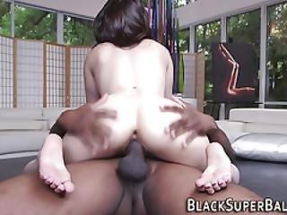 Babe Rides Black Cock Pov