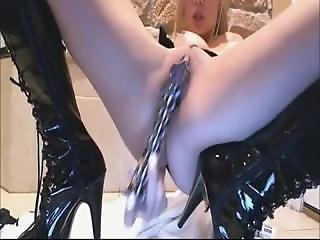 Skype Teen Shiny Latex Boots Mitsukodoll