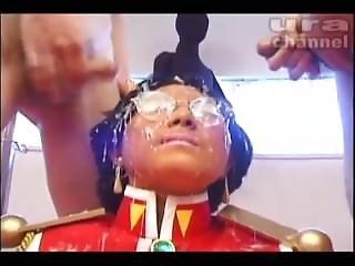 Incredible Cosplay Japanese Bukkake Girl With Cum On Glasses