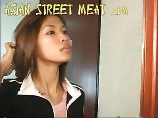 asiático, blowjob, cumshot, Adolescente, thai