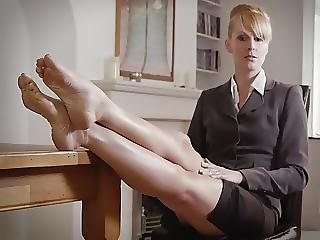 Boss, Milf, Nylon, Jupe, Stocker, Jupe