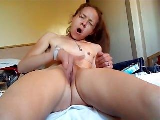 Fingering Herself To Amazing Orgasm