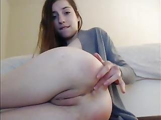 Teen Slut Plays With Her Asshole