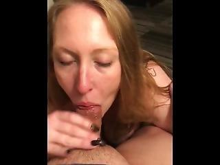 White Chick Suckinme Dry