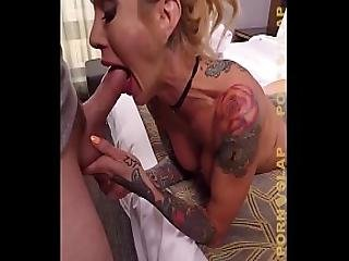 Pornslap Tattooed Milf Sarah Jessie Enjoys Warm Sperm