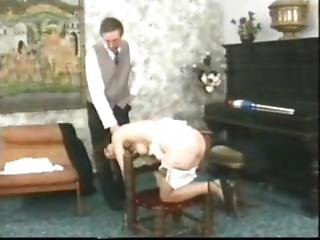 Landlord Spanks His Maid For Being Idler Part 2