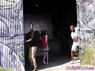 Gangbanged Teenage Asian Ho Sucks Black Schlongs And Drinks Cum From Bowl