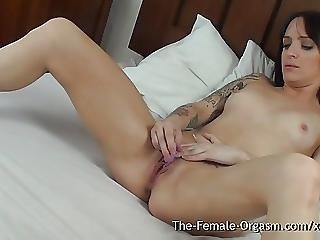 Sexy Biker Babe Masturbation With Real Orgasmic Contractions