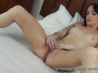 Action, Babe, Biker, British, Masturbation, Orgasm, Sexy, Small Tits, Tattoo