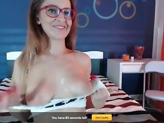 Livejasmin Xxchristas Drooling Saliva On Her Big Tits