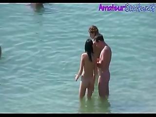 Amateurs Nude Beach Compilation Voyeur Video
