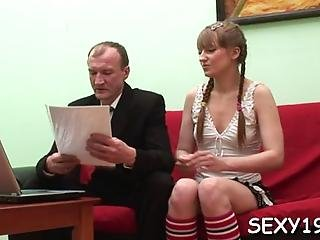 Chick Needs To Comply With Old Teacher Horny Demands
