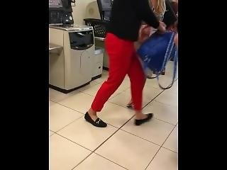 Sexy Blonde Thong In Shop