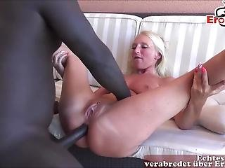 German Skinny Blonde Amateur Teen Small Ass Fuck Anal By Big Black Cock