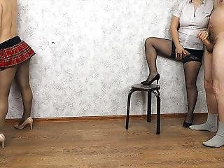 Handjob To Husband For Stripper! And Even Sex In Pantyhose! Anya Queen