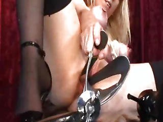 Bdsm, Bondage, Bottle, Extreme, Fetish, Fisting, Gaping Hole, Horse, Insertion, Object Insertion, Pussy, Slave, Speculum, Vaginal