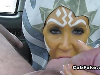 Star Wars Themed Fuck In Fake Taxi