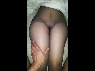 Sexy Arab Pantyhose Curvy Girl Gets Groped In Sleep Pussy Plaed With Wet