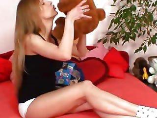 Immoral Blonde Slut Olga Barz Shaggy Cunt Yawning