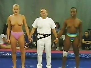 Blonde, Interracial, Lesbian, Sport, Wrestling