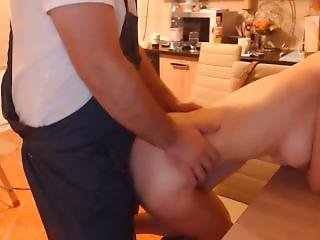 Fucking My Hot Wife In The Kitchen Doggystyle