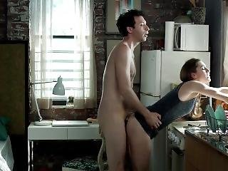 brünette, promi, küche, sex