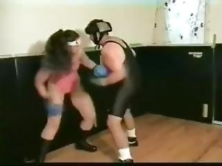 Competiteve Mixed Boxing Match