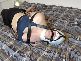 Sexy Helpless Bondage Slave Tries To Escape - There Is No Escape !!!
