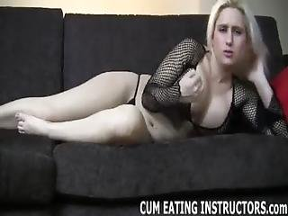 Stroke Out A Big Hot Load And Eat It All Up Cei