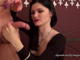 Russian Claw Goddess Gives Violet Handjob