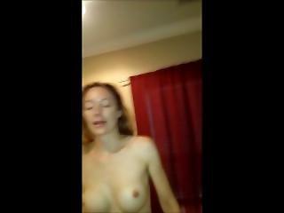 Crazy Redhead Wife Riding Cock. No Sound.