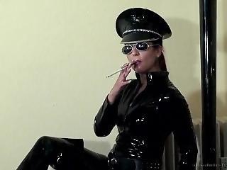 Holder Smoking In Uniform