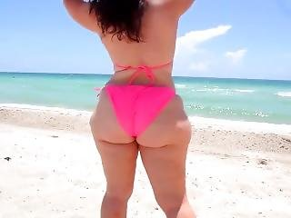 Pawg Bitch At Nude Beach