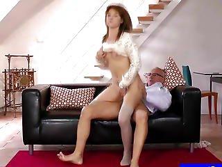 Sexy Teen In Uniform Masturbating