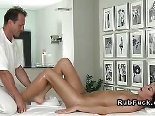 Masseur Gets Footjob Before Sex