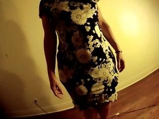 Mature Shaking It In Dress